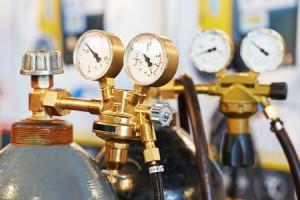 46546683 - welding equipment acetylene gas cylinder tank with gauge regulators manometers